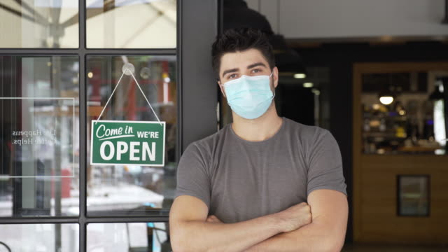 small business owner during covid-19 pandemic - english language stock videos & royalty-free footage
