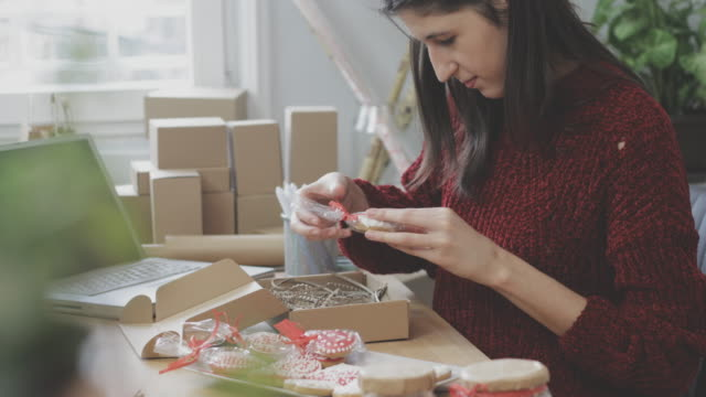 small business owner - dolci video stock e b–roll