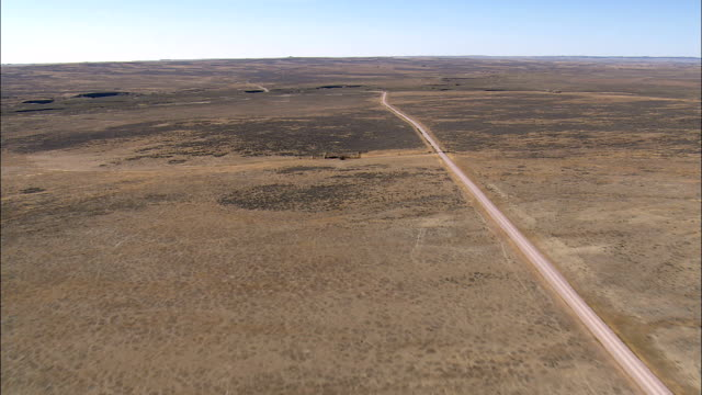 small buttes in thunder basin national grassland  - aerial view - wyoming, weston county, united states - national grassland stock videos & royalty-free footage