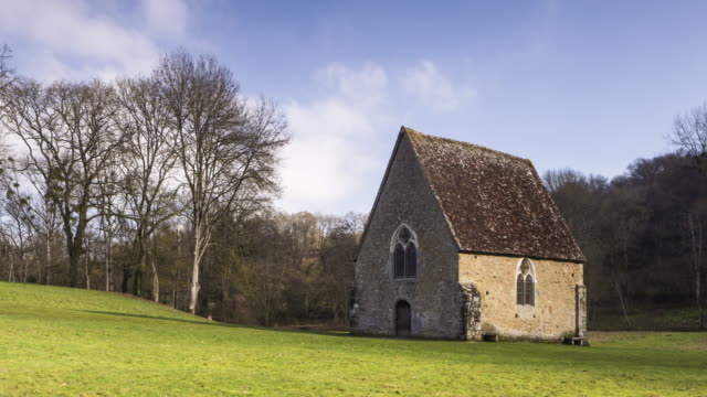 a small chapel in saint cenerei le gerei in france. - normandy stock videos and b-roll footage