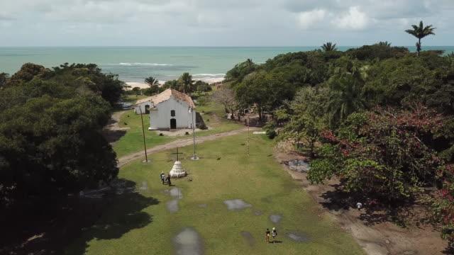 small church in northeast brazil - porto seguro stock videos & royalty-free footage