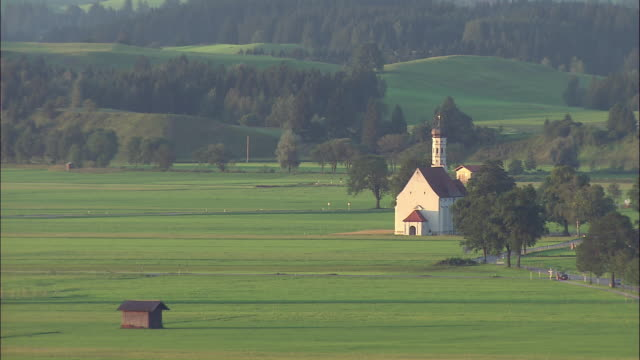 WS Small church in rural landscape, Bavaria, Germany