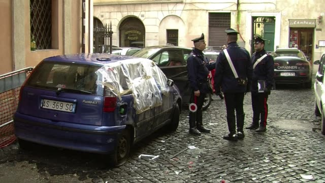 small explosive device went off outside a french church in central rome, causing only material damage in an incident france's embassy to the vatican... - explosive material stock videos & royalty-free footage