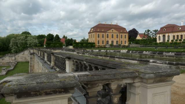 small friedrich palace and upper orangery at the grosssedlitz baroque gardens heidenau saxony, germany - sachsen stock-videos und b-roll-filmmaterial