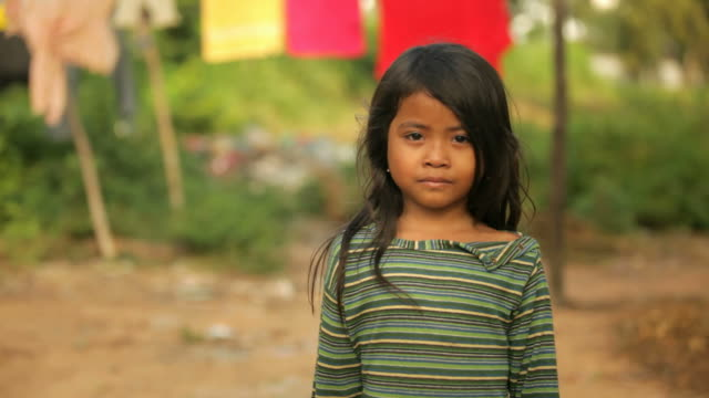 small girl in cambodia - cambodia stock videos and b-roll footage