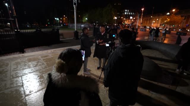 small group hold a candlelit vigil to mark what would have been the birthday of george floyd, in windrush square in brixton on october 14, 2020 in... - candlelight stock videos & royalty-free footage
