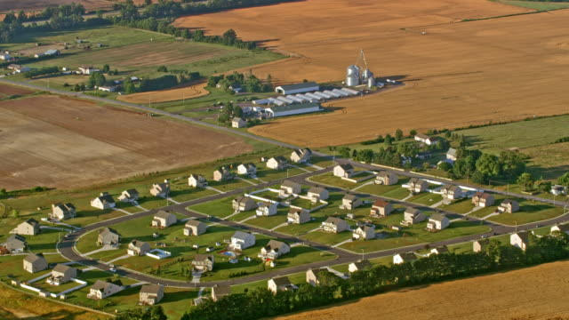 AERIAL Small housing estate in the countryside