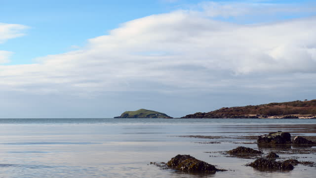 small island off the coast of mainland scotland - general view stock videos & royalty-free footage