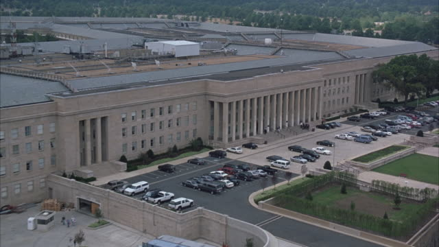 a small number of people lingering on the steps of the pentagon. - united states department of defense stock videos & royalty-free footage