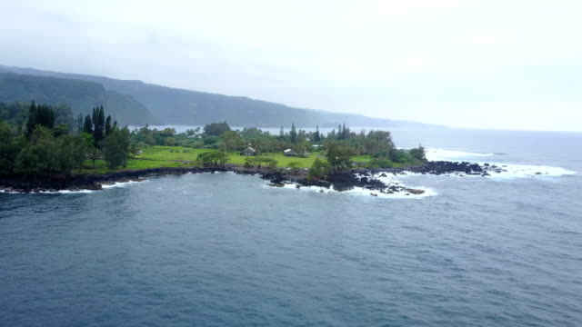 small peninsula extending out into ocean around maui - peninsula stock videos and b-roll footage