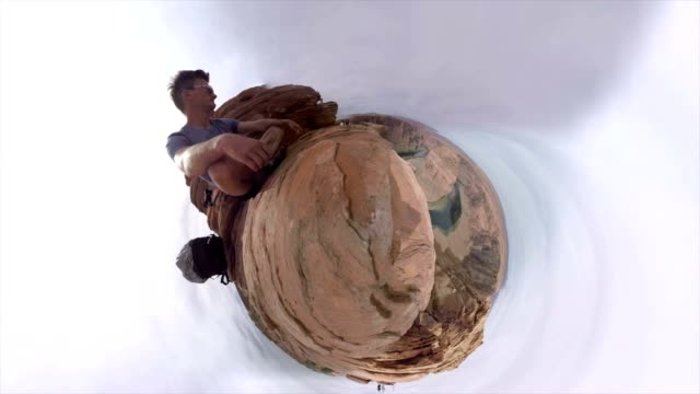 small planet effect of the horseshoe bend in arizona - natural landmark stock videos & royalty-free footage