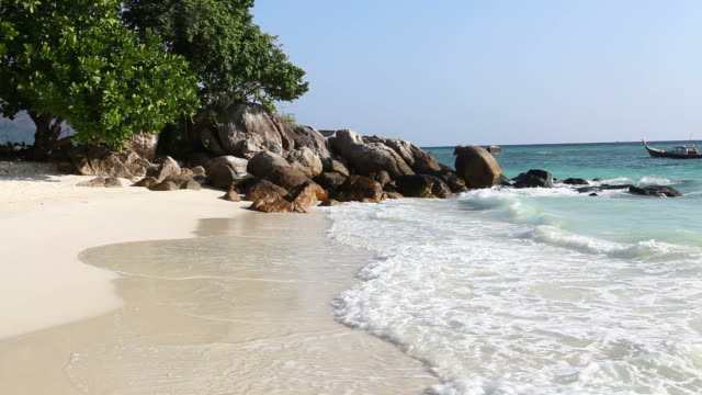 Small remote beach Koh Lipe island Thailand (HD 1080)