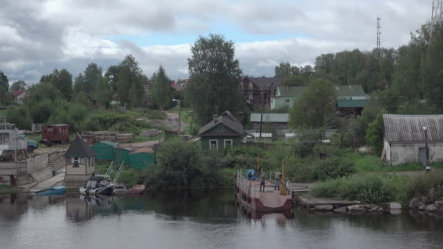 Small Russian village close to abandoned factory