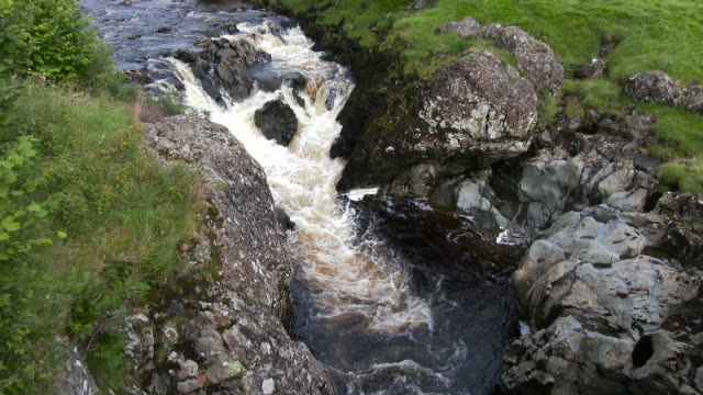 Small Scottish waterfall in Dumfries and Galloway