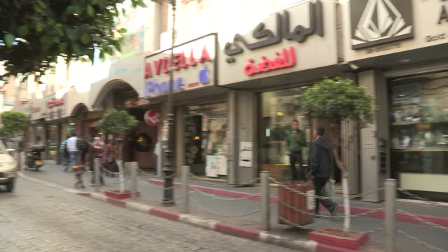 small shops, ramallah, palestine - ramallah stock videos and b-roll footage