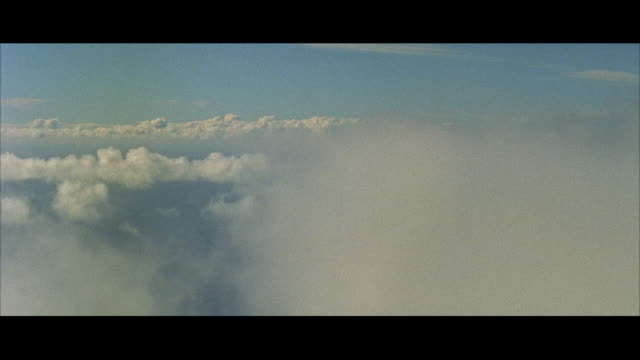 aerial ws small single engine single wing ryan airplane in flying through clouds / st. louis, missouri, united states - aircraft point of view stock videos & royalty-free footage