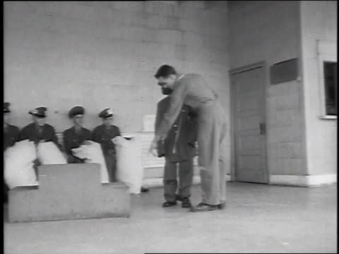 1951 ws small soldier at lackland air force base receiving a uniform fitting / san antonio, texas, united states - lackland air force base stock videos and b-roll footage