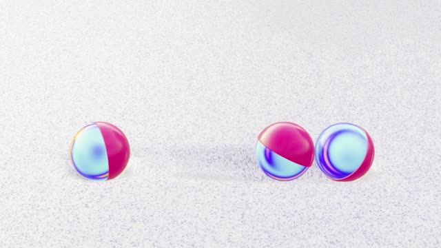 Small spheres bumping into each other