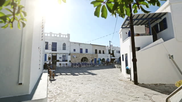 small square in village on greek island - santorini stock videos and b-roll footage