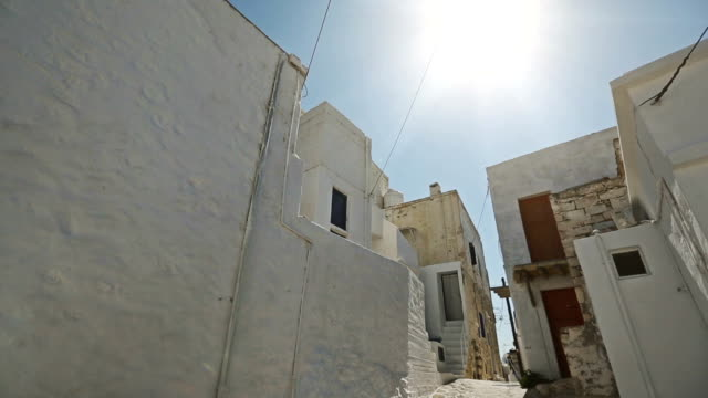 Small street in village on Greek island