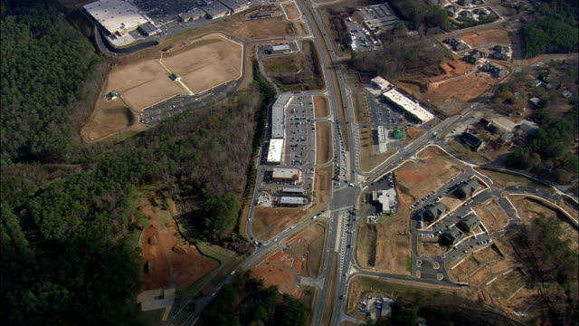 small town - Aerial View - Georgia,  Cobb County,  United States