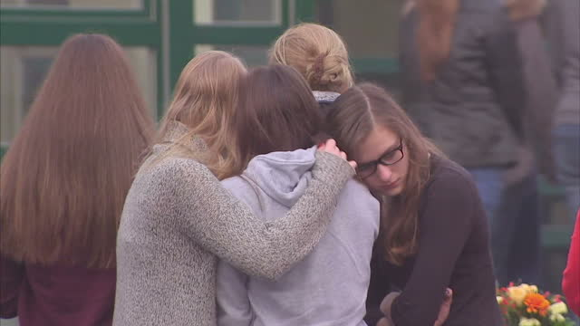 a small town in germany continues to mourn this evening after 16 pupils and two teachers from the same school all died in the plane crash on their... - ノルトラインヴェストファーレン州点の映像素材/bロール