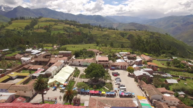 Small Town Square in Andes