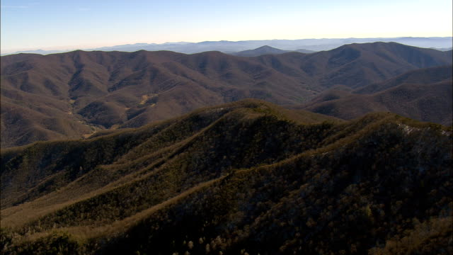 Small Valleys In Nantahala National Forest  - Aerial View - North Carolina,  Haywood County,  United States