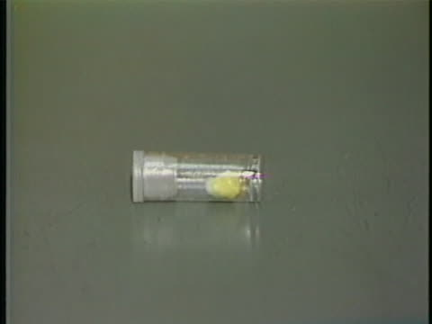 stockvideo's en b-roll-footage met small vial of crack is on display. - crime or recreational drug or prison or legal trial