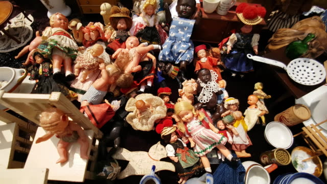 Small Vintage Dollies Offered at the Open Flea Market