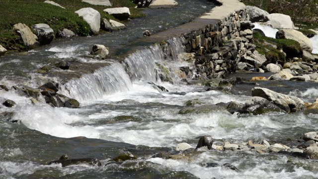 a small waterfall and stones - collection stock videos & royalty-free footage