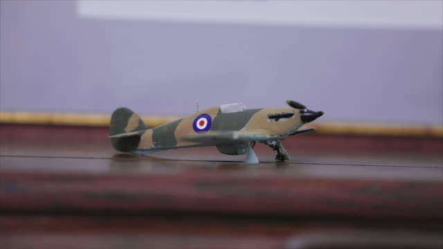 small ww2 model airplane close up - allied forces stock videos & royalty-free footage