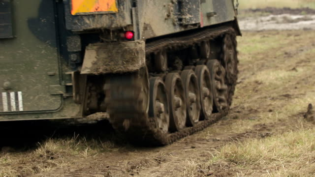 smaller tank splashing in the mud - armoured vehicle stock videos and b-roll footage