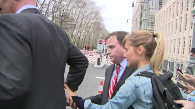 wpix 'smallville' actress allison mack appearing in brooklyn court for bail hearing in sex cult case - bail cricket stump stock videos & royalty-free footage
