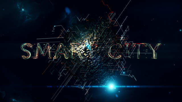 smart city cube - smart city stock videos & royalty-free footage
