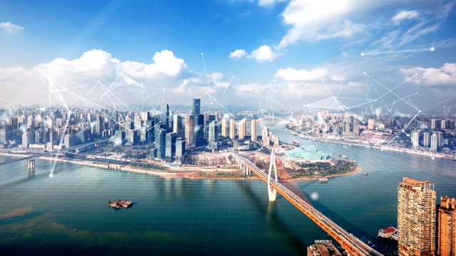 smart city of chongqing,time lapse - smart stock videos & royalty-free footage