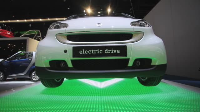 CU, Smart electric car on display at Detroit Auto Show, Detroit, Michigan, USA