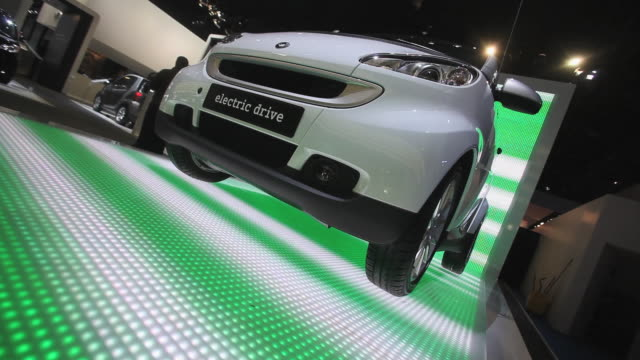 CU, CANTED, Smart electric car on display at Detroit Auto Show, Detroit, Michigan, USA