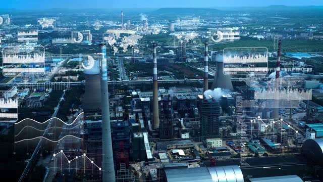 smart factory concept. communication network. industry4.0 - intelligence video stock e b–roll