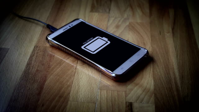 smart phone fully charged - full stock videos & royalty-free footage
