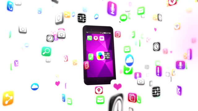 smart phone loads apps - mobile app stock videos & royalty-free footage