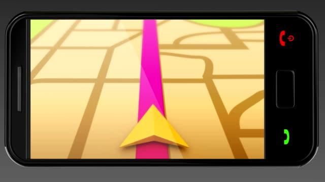 smart phone navigation gps maps - electronic organiser stock videos & royalty-free footage