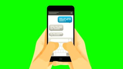 stockvideo's en b-roll-footage met slimme telefoon op greenscreen - social media