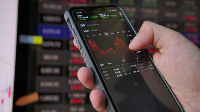 4k smart phone play stock market data business - trading screen stock videos & royalty-free footage