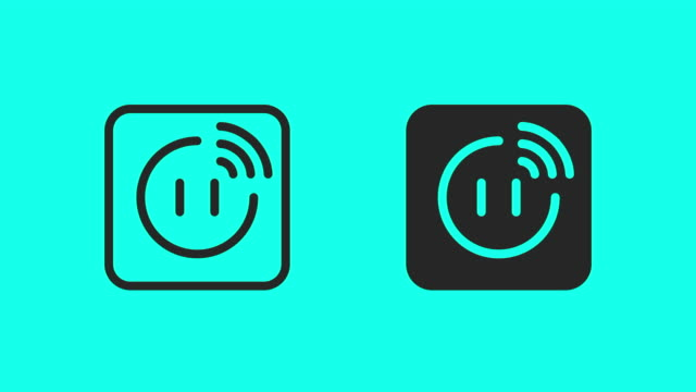 smart plug icons - vector animate - electrical component stock videos and b-roll footage