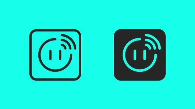スマートプラグアイコン - ベクトルアニメーション - 電気部品点の映像素材/bロール