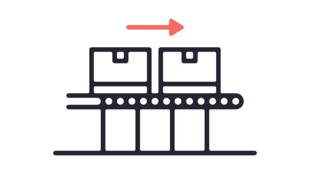 vidéos et rushes de smart line production icône animation avec alpha - dessin au trait