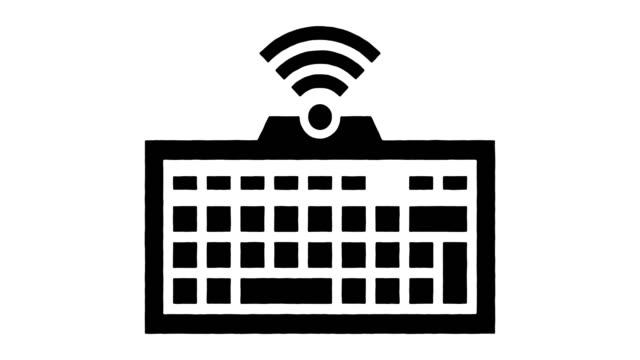vidéos et rushes de smart tv keyboards line drawing - animation d'éclaboussures d'encre avec alpha - blog