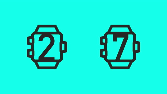 Smart Watch Counting - Vector Animate
