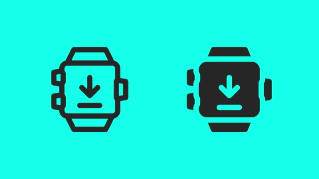 Smart Watch Downloading Icons - Vector Animate